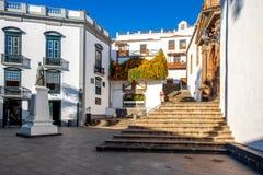 Quadrato centrale in vecchia città Santa Cruz de la Palma fotografia stock