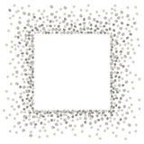 Quadrato d'argento del punto Fotografia Stock