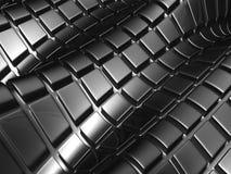 Quadrato d'argento di alluminio astratto Fotografia Stock
