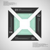 Quadrato da quattro parti separate royalty illustrazione gratis