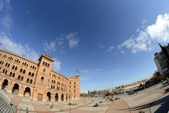 Quadrato da un lato tramite un fish-eye, Madrid di Las Ventas Fotografie Stock Libere da Diritti