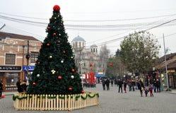 Quadrato decorato di Shadrvan in Prizren, il Kosovo Fotografia Stock Libera da Diritti