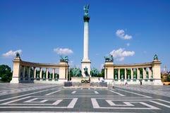 Quadrato degli eroi, Budapest Immagini Stock