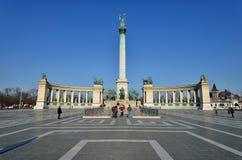 Quadrato degli eroi, Budapest Fotografie Stock
