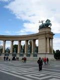 Quadrato degli eroi, Budapest, particolare Immagini Stock