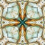 Quadrato del caleidoscopio: strati della selce cornea, costa dell'Oregon Fotografie Stock Libere da Diritti
