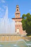 Quadrato del castello a Milano Immagini Stock