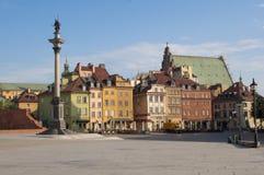 Quadrato del castello a Varsavia Fotografie Stock