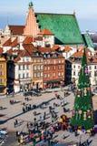 Quadrato del castello a Varsavia Fotografia Stock