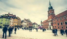 Quadrato del castello a Varsavia Fotografia Stock Libera da Diritti