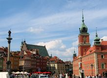 Quadrato del castello a Varsavia Immagine Stock