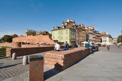 Quadrato del castello a Varsavia, Polonia Fotografia Stock
