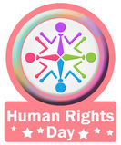 Quadrato del cerchio di giorno di diritti umani Immagine Stock Libera da Diritti