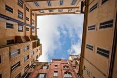 Quadrato del cielo Fotografia Stock