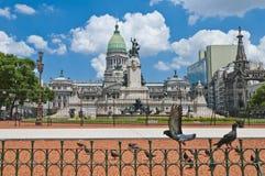 Quadrato del congresso a Buenos Aires, Argentina Fotografia Stock Libera da Diritti