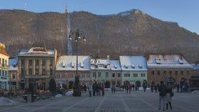 Quadrato del Consiglio, Brasov, Romania stock footage