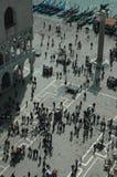 Quadrato del contrassegno della st e palazzo del Doge da sopra Immagini Stock Libere da Diritti