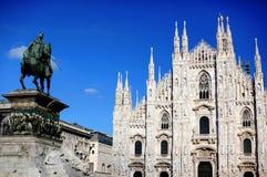 Quadrato del Duomo, Milano Fotografia Stock Libera da Diritti