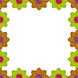 Quadrato del fiore fatto da argilla Fotografie Stock