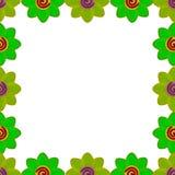 Quadrato del fiore fatto da verde dell'argilla Immagini Stock