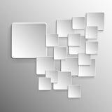 Quadrato del fondo con progettazione su gray Immagine Stock Libera da Diritti