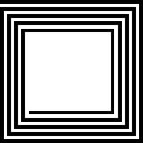 Quadrato del labirinto Fotografie Stock Libere da Diritti