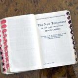 Quadrato del libro del nuovo testamento Fotografie Stock Libere da Diritti