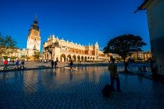 Quadrato del mercato a Cracovia Fotografia Stock Libera da Diritti