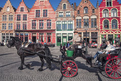 Quadrato del mercato di Bruges Fotografia Stock Libera da Diritti