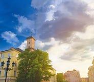 Quadrato del mercato di Lviv Immagini Stock Libere da Diritti