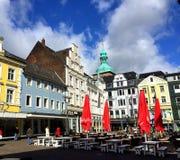 Quadrato del mercato di Recklinghausen (Germania) fotografia stock libera da diritti