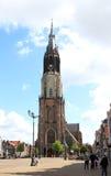 Quadrato del mercato e nuova chiesa, Delft, Olanda Fotografie Stock Libere da Diritti