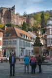Quadrato del mercato a Heidelberg Immagini Stock Libere da Diritti