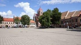 Quadrato del mercato a Kaunas Fotografia Stock