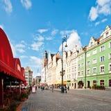 Quadrato del mercato - quadrato principale a Wroclaw, Polonia Fotografia Stock