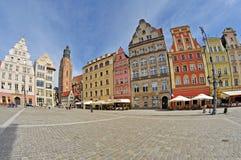 Quadrato del mercato, Wroclaw, Polonia Immagini Stock Libere da Diritti