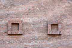 Quadrato del muro di mattoni due Fotografia Stock Libera da Diritti