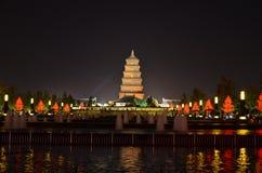 Quadrato del nord di grande pagoda dell'oca selvatica in Xian Fotografie Stock