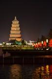 Quadrato del nord di grande pagoda dell'oca selvatica in Xian Immagine Stock