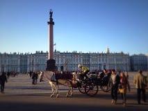 Quadrato del palazzo a St Petersburg immagine stock libera da diritti