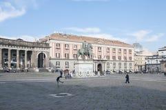 Quadrato del plebiscito, Napoli, campania, Italia, Europa Fotografia Stock Libera da Diritti