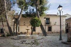 Quadrato del ` s di St Augustine, Almansa, Spagna Fotografia Stock Libera da Diritti
