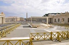 Quadrato del ` s di St Peter, Città del Vaticano Fotografia Stock