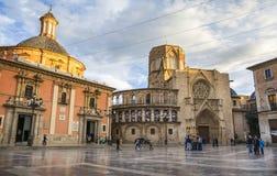 Quadrato del ` s Plaza de la Virgen, Valencia di St Mary Immagini Stock Libere da Diritti