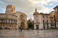 Quadrato del ` s Plaza de la Virgen, Valencia di St Mary Fotografia Stock