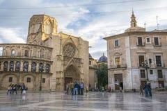 Quadrato del ` s Plaza de la Virgen, Valencia di St Mary Fotografie Stock