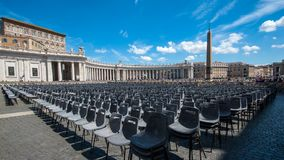 Quadrato del ` s del Vaticano St Peter Fotografie Stock Libere da Diritti