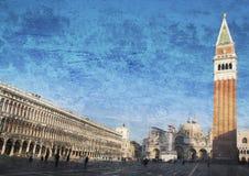 Quadrato del Sam Marco a Venezia, Italia Fotografia Stock Libera da Diritti
