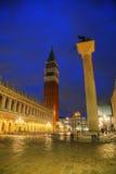 Quadrato del San Marco a Venezia Fotografie Stock Libere da Diritti
