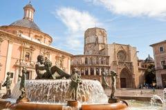 Quadrato del vergine a Valencia, Spagna Immagini Stock Libere da Diritti